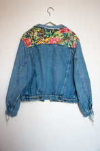 Load image into Gallery viewer, 'Wrangler' denim jacket, Tigers and Peonies design