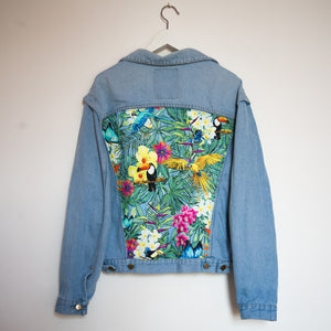 'Carrera' Denim jacket, Tropical Rainforest design