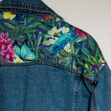 Load image into Gallery viewer, 'Casucci' Denim jacket, Tropical Rainforest design