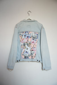Levi's Denim jacket, Pink Magnolia Elephants design