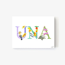 Load image into Gallery viewer, Animal Alphabet Custom Names - Print on Canvas