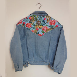 Brandy Melville Denim Jacket, Tigers and Peonies