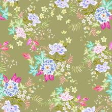 Load image into Gallery viewer, Oriental Flowers (Khaki)