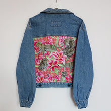 Load image into Gallery viewer, Extream Denim Jacket, PINK Leopards and Lilies design *LIMITED EDITION*