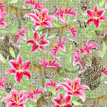 Load image into Gallery viewer, Leopards and Lilies (Green)