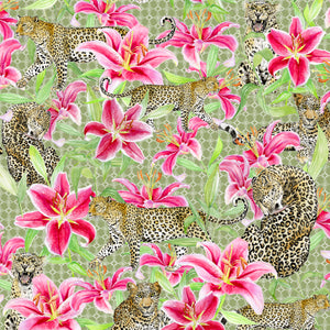 Leopards and Lilies (Green)