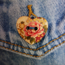 Load image into Gallery viewer, 'Indigo Seal' Denim Jacket, Pink Leopard Lily design.