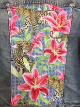 Load image into Gallery viewer, 'Diesel' Denim jacket, Leopards and Lilies design
