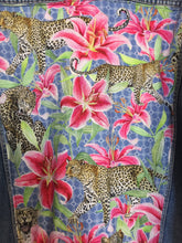Load image into Gallery viewer, 'Pop 84' Denim jacket, Leopards and Lilies design