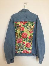 Load image into Gallery viewer, 'Casucci' denim jacket, Tigers and Peonies design