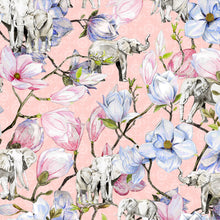 Load image into Gallery viewer, Elephants and Magnolia (Pink)