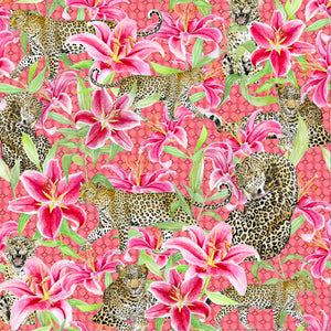 Leopards and Lilies (Pink)