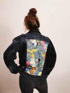'Mustang' Denim jacket, Tropical Rainforest design