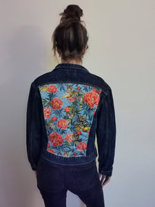 Lee Denim jacket, Tigers and Peonies design