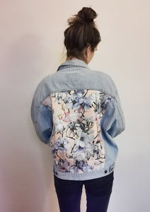 Carrera Denim Jacket, Pink Magnolia Elephants