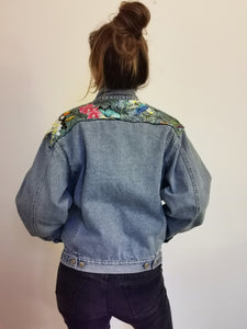 'Fax 6.14' denim jacket, Tropical Rainforest design