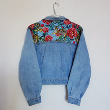 Load image into Gallery viewer, 'Patch' Denim Jacket, Tigers and Peonies design