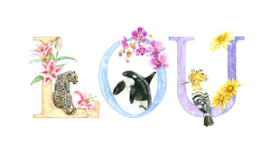 Animal Alphabet Custom Names - Print (unframed)