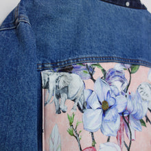 Load image into Gallery viewer, 'Spotty' denim jacket, Pink Magnolia Elephants
