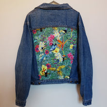 Load image into Gallery viewer, 'Bryn Stell' Denim Jacket, Tropical Rainforest design