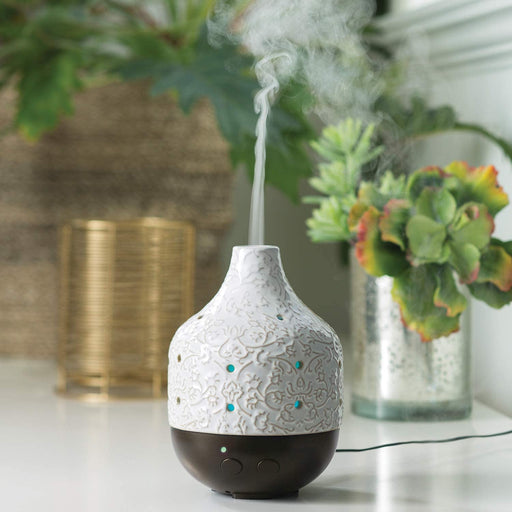 Botanical Ceramic Essential Oil Diffuser - 10 Hour