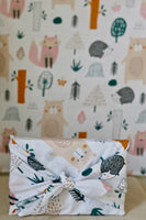 Forest friends - 100% cotton fabric gift wrap - furoshiki