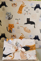 Wicked cats 100% cotton fabric wrap