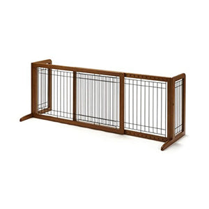 Richell Wood Freestanding Pet Gate - ProsperDog