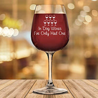 In Dog Wines... Funny Wine Glass - ProsperDog