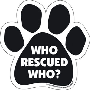 Who Rescued Who Car Magnet - ProsperDog