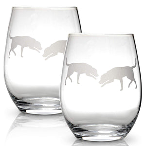 Labrador Retriever Stemless Wine Glasses - ProsperDog