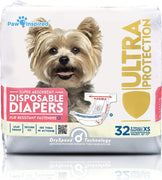 Paw Inspired Female Disposable Dog Diapers 32ct - ProsperDog