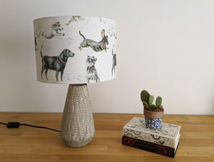 """Canine Friends"" dog print lampshade"