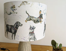 "Load image into Gallery viewer, ""Canine Friends"" dog print lampshade"