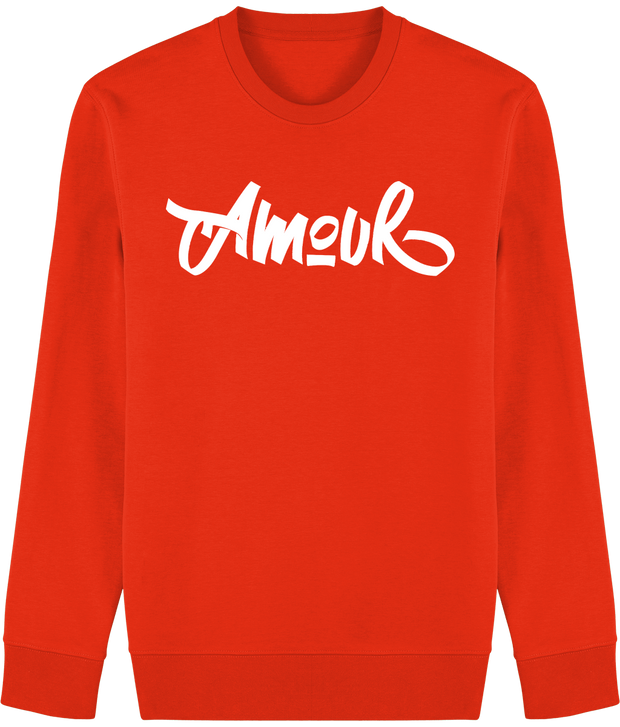 SWEAT A COL ROND AMOUR - COULEURS