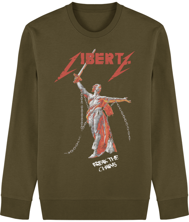 SWEAT A COL ROND LIBERTY - NOIR/KAKI