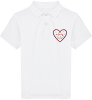 POLO ENFANT YOUNG HEART - BLANC/ROSE