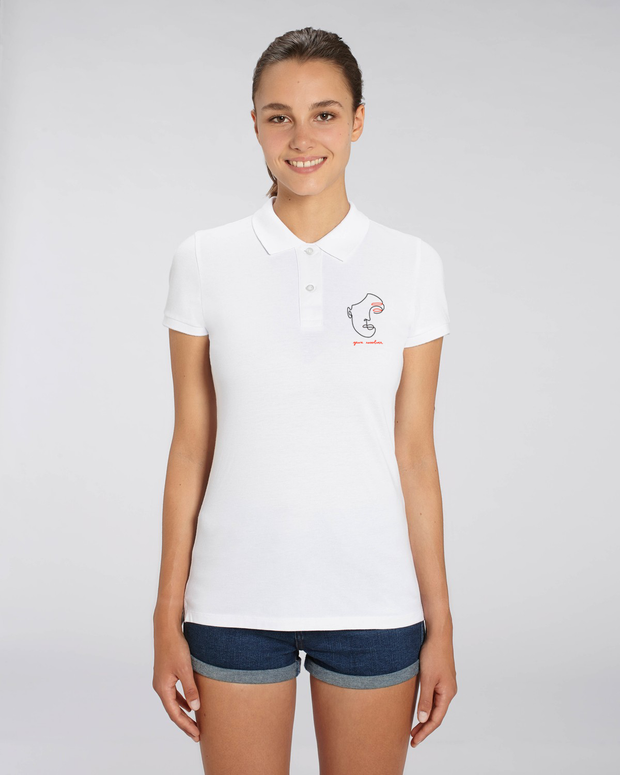 POLO FEMME BRODERIE YEUX REVOLVER