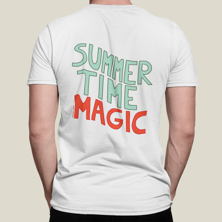 T-SHIRT UNISEXE SUMMER TIME MAGIC - BLANC