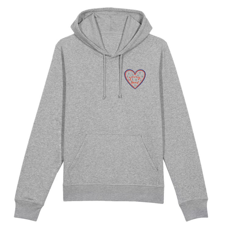 HOODIE GRIS YOUNG HEART - Dach Paris