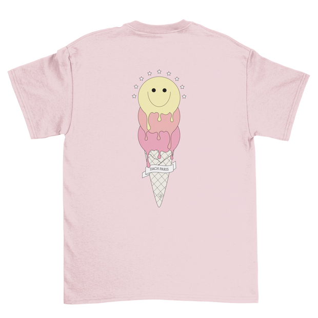 T-SHIRT UNISEXE FROSTY SMILE - ROSE