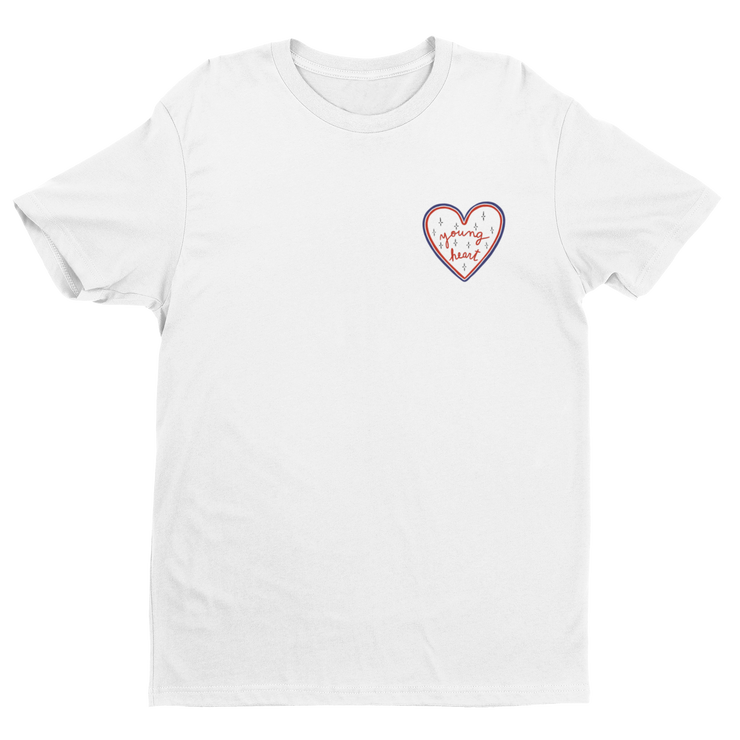 T-SHIRT BLANC YOUNG HEART