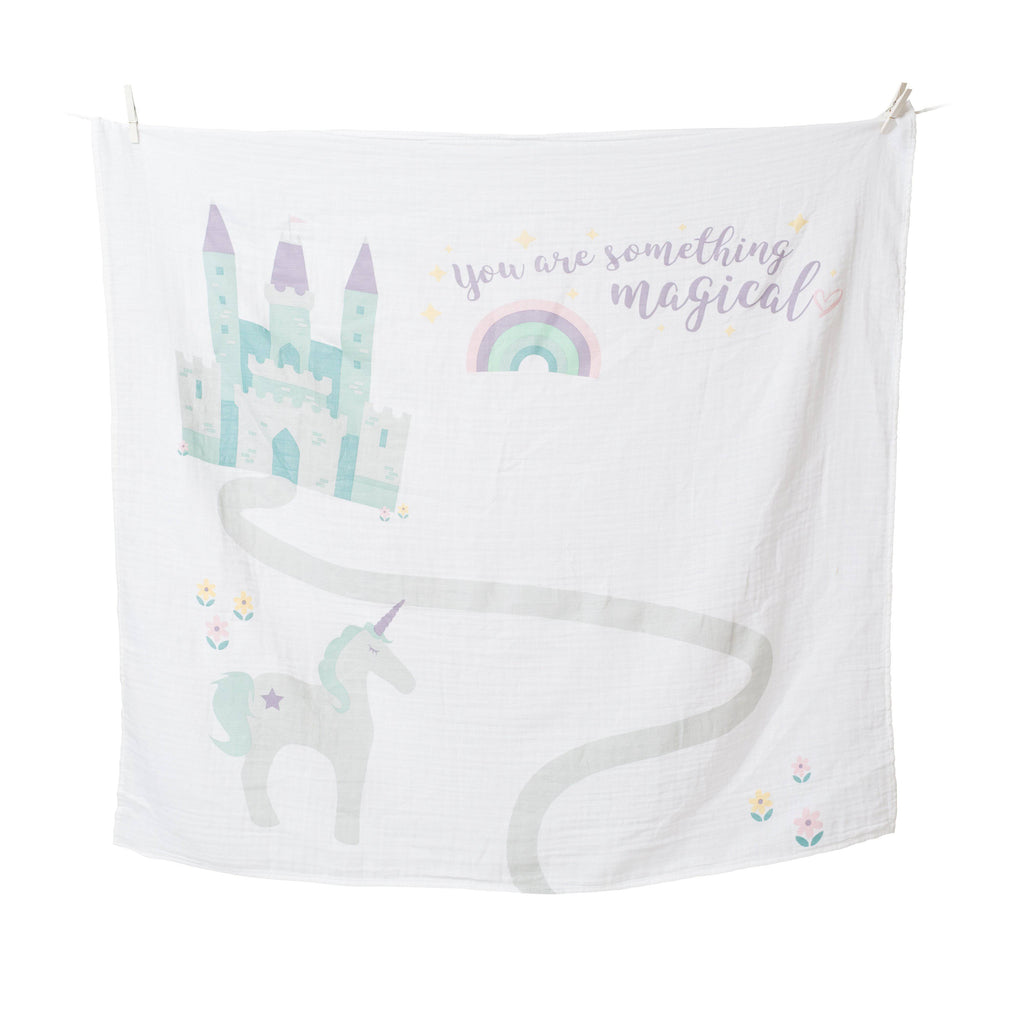 "Swaddle & Karten Set 'Baby's First Year - ""Something Magical"" - KleinKinderKram Baby Online Shop"