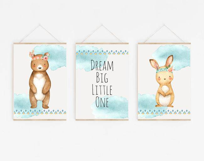 "Kinderzimmer Poster - ""Dream big little One"" - KleinKinderKram Baby Online Shop"