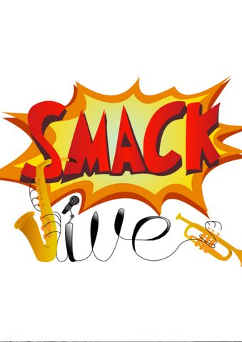 red, orange, yellow and black 'smackjive' logo