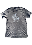 "grey  Charcoal ""Lion"" T-Shirt"