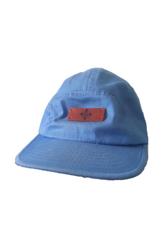 baby blue baseball hat with 'The North Coast Band'