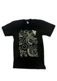black and yellow midnight shift t-shirt