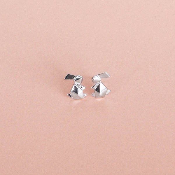 Bunny-Stud-Earrings-Origami-Bowerbird