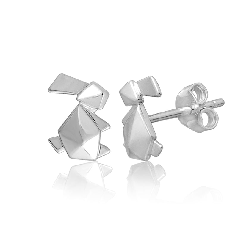 Bunny-Stud-Earrings-Origami